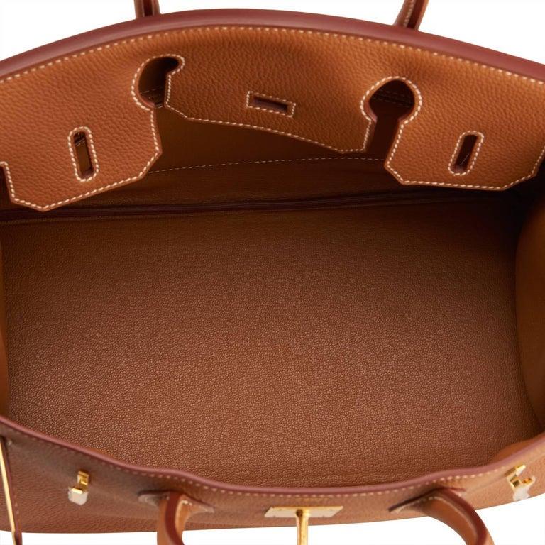 Hermes Birkin 30cm Gold Camel Tan Togo Gold Hardware Bag Y Stamp, 2020 For Sale 4