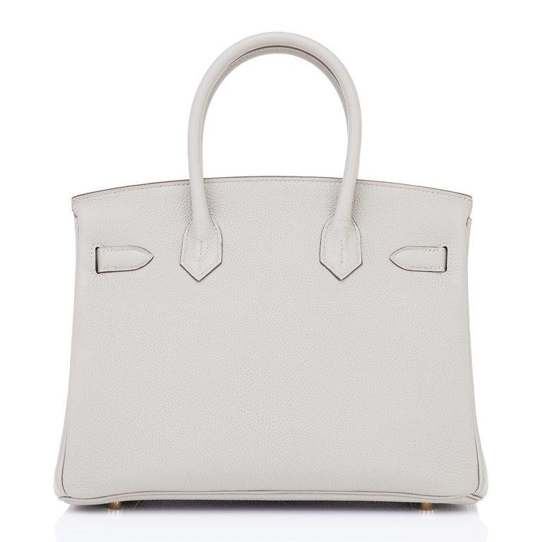 Hermes Birkin 30cm Gris Perle Togo Bag Gold Hardware Pearl Gray Y Stamp, 2020 For Sale 1