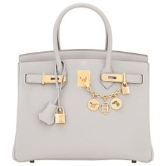Hermes Birkin 30cm Gris Perle Togo Bag Gold Hardware Pearl Gray Y Stamp, 2020