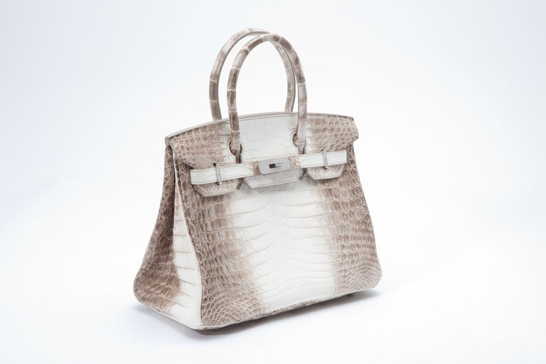 Hermes Birkin 30cm in ultra rare Himalayan crocodile leather with diamond hardware.  Without doubt the world's most coveted handbag.   Packaged in its original packaging with all applicable CITES documents.