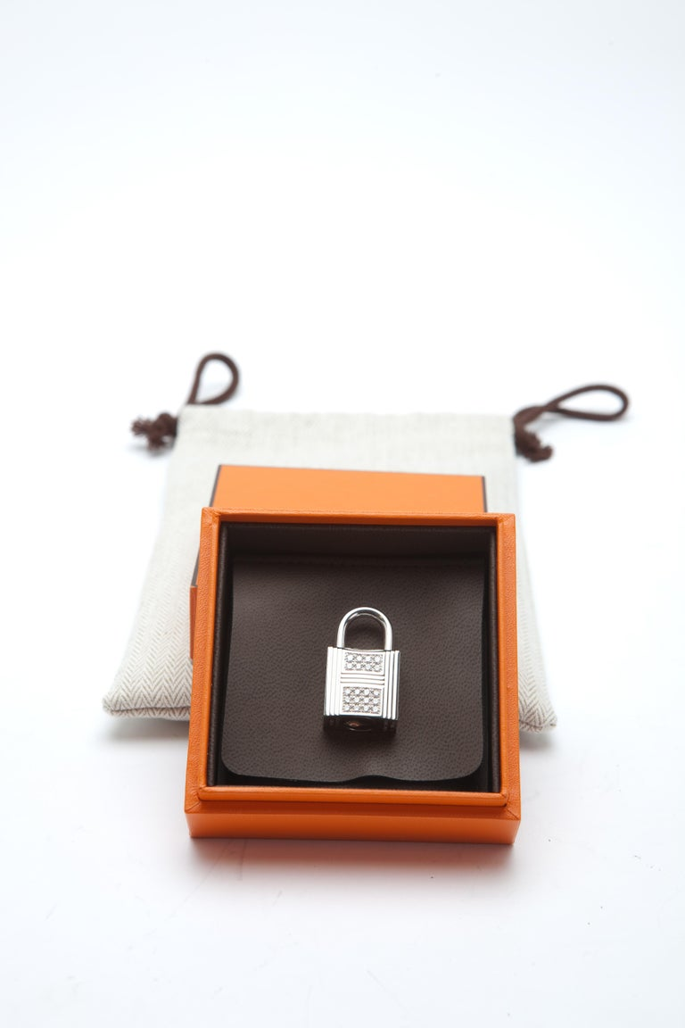 Hermes Birkin 30cm Himalayan with Diamond hardware In New Condition For Sale In Sheridan, WY