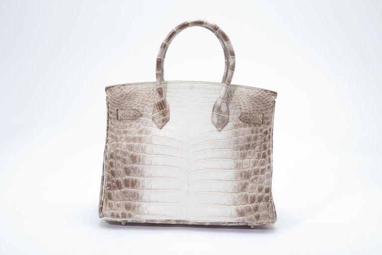 Women's or Men's Hermes Birkin 30cm Himalayan with Diamond hardware For Sale