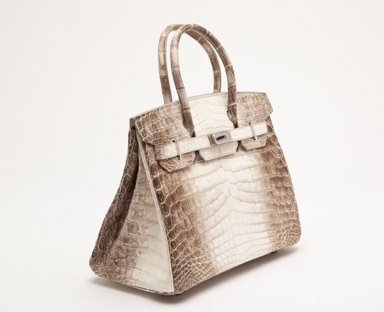 Beige Hermes Birkin 30cm Himalayan with Palladium hardware For Sale