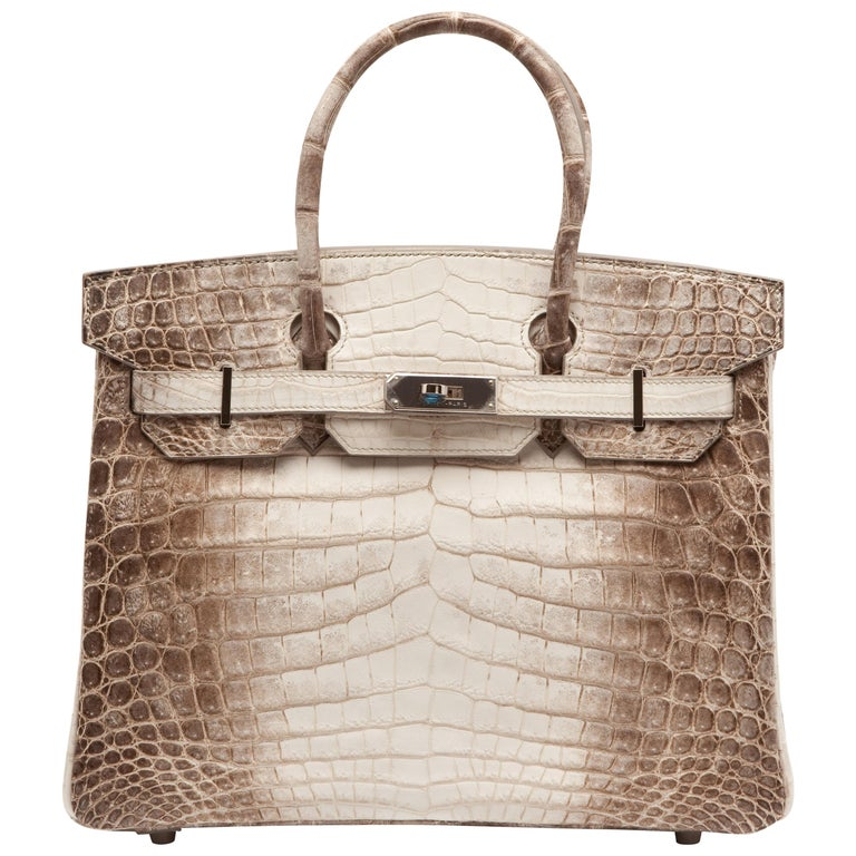 Hermes Birkin 30cm Himalayan with Palladium hardware For Sale
