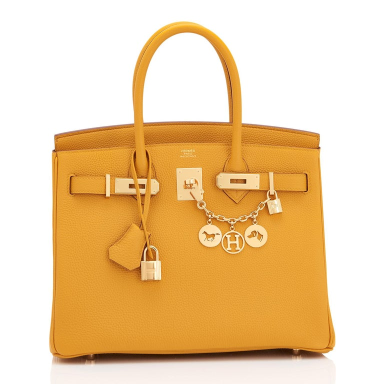 Hermes Birkin 30cm Jaune Ambre Bag Togo Bag Amber Gold Hardware  Just purchased from Hermes store. Brand New in Box. Store fresh. Pristine condition (with plastic on hardware). Perfect gift! Coming full set with keys, lock, clochette, a sleeper for