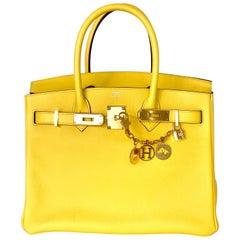 Hermes Birkin 30cm Jaune de Naples Yellow Taurillon Novillo