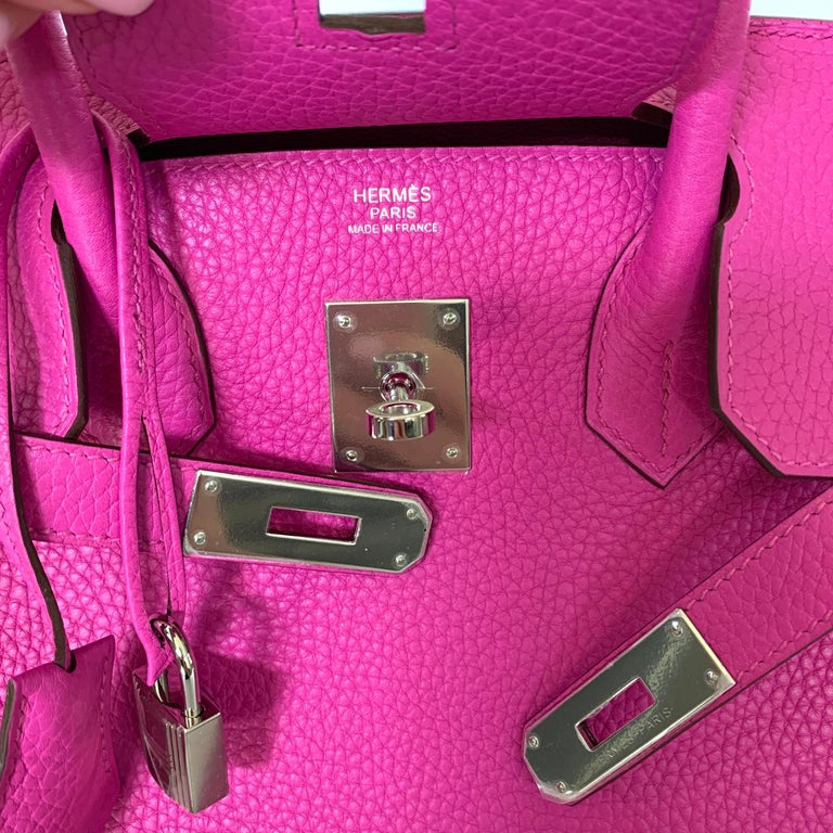 Hermes Birkin 30cm Magnolia Togo Palladium Bag For Sale 5