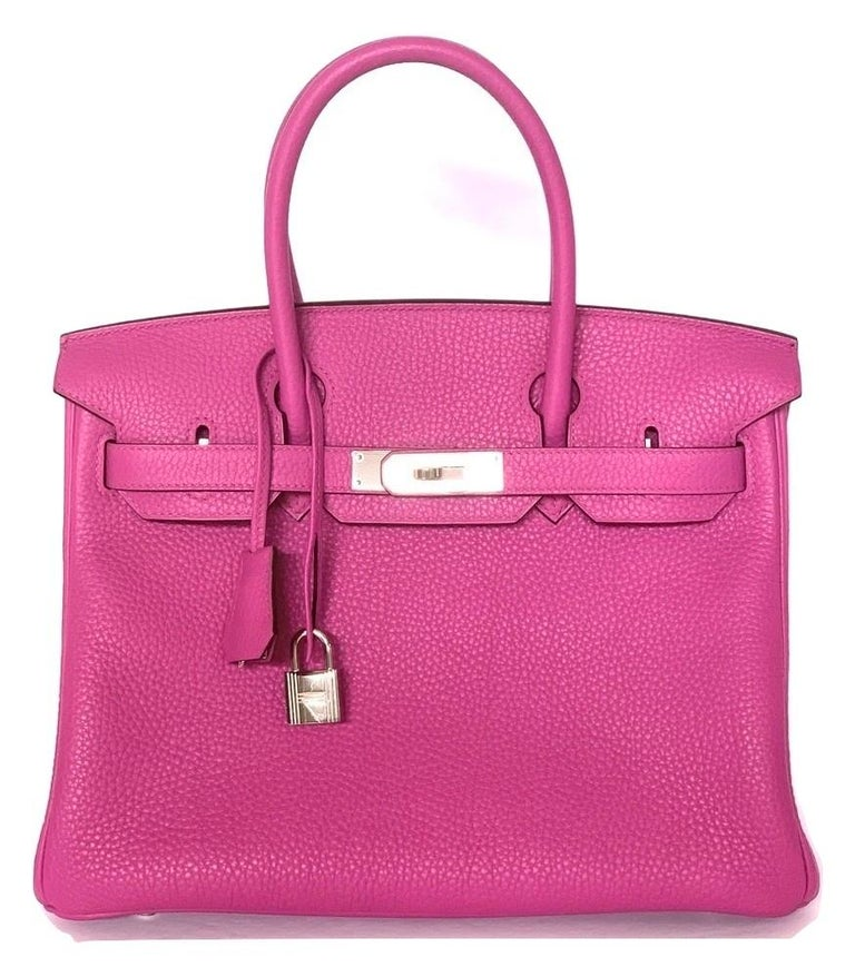 Hermès Magnolia Togo 30 cm Birkin - Pristine Condition Plastic on all the hardware, except the toggle  Hand stitched by skilled craftsmen, wait lists of a year or more are common for the Hermès Birkin. They are considered the ultimate in