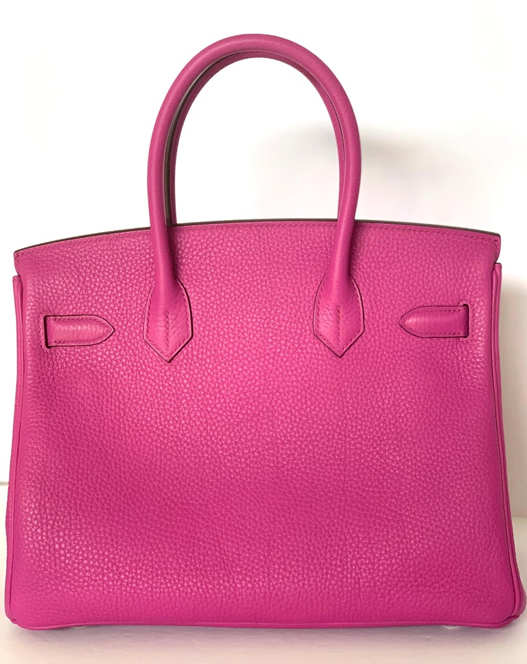 Hermes Birkin 30cm Magnolia Togo Palladium Bag For Sale 4