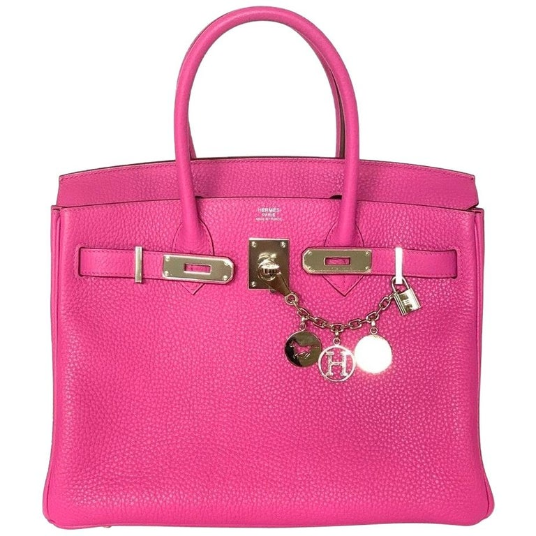 Hermes Birkin 30cm Magnolia Togo Palladium Bag For Sale