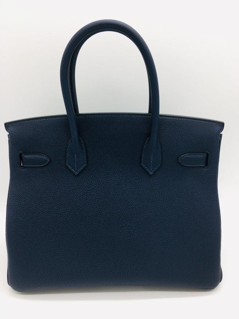 0935af098b2 Hermes Birkin 30cm Officier Bleu Nuit Vert Cypress For Sale at 1stdibs