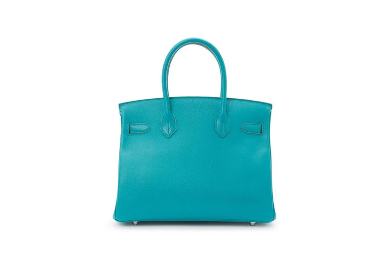 Women's Hermes Birkin 30cm Paon Epsom with Palladium Hardware For Sale