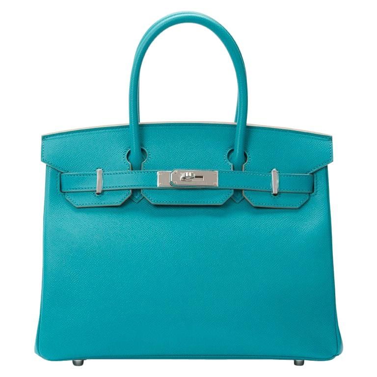 Hermes Birkin 30cm Paon Epsom with Palladium Hardware For Sale