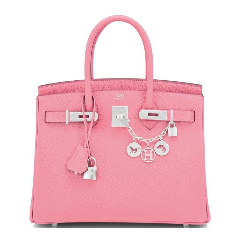 Hermes Birkin 30cm Rose Confetti Pink Epsom Palladium Y Stamp, 2020 For Sale 6