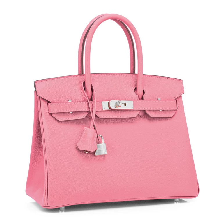 Hermes Birkin 30cm Rose Confetti Pink Epsom Palladium Y Stamp, 2020 Brand New in Box. Store Fresh. Pristine Condition (with plastic on hardware). Just purchased from Hermes store; bag bears new interior 2020 Y stamp. Perfect gift! Comes full set