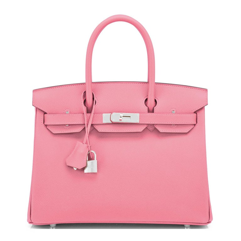 Hermes Birkin 30cm Rose Confetti Pink Epsom Palladium Y Stamp, 2020 In New Condition For Sale In New York, NY