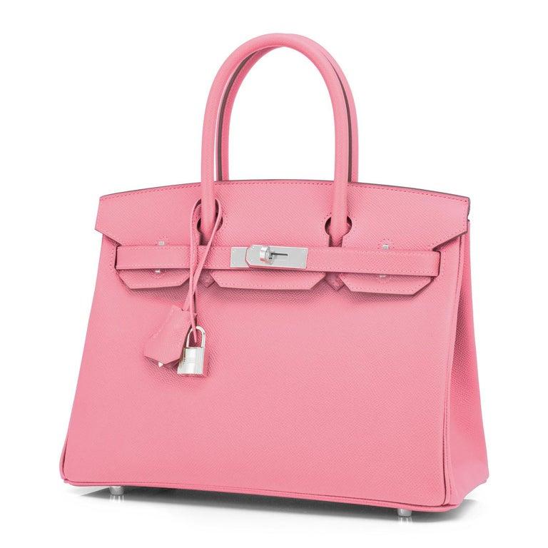 Women's Hermes Birkin 30cm Rose Confetti Pink Epsom Palladium Y Stamp, 2020 For Sale