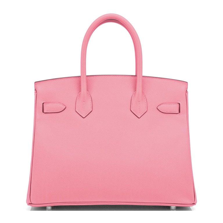 Hermes Birkin 30cm Rose Confetti Pink Epsom Palladium Y Stamp, 2020 For Sale 1