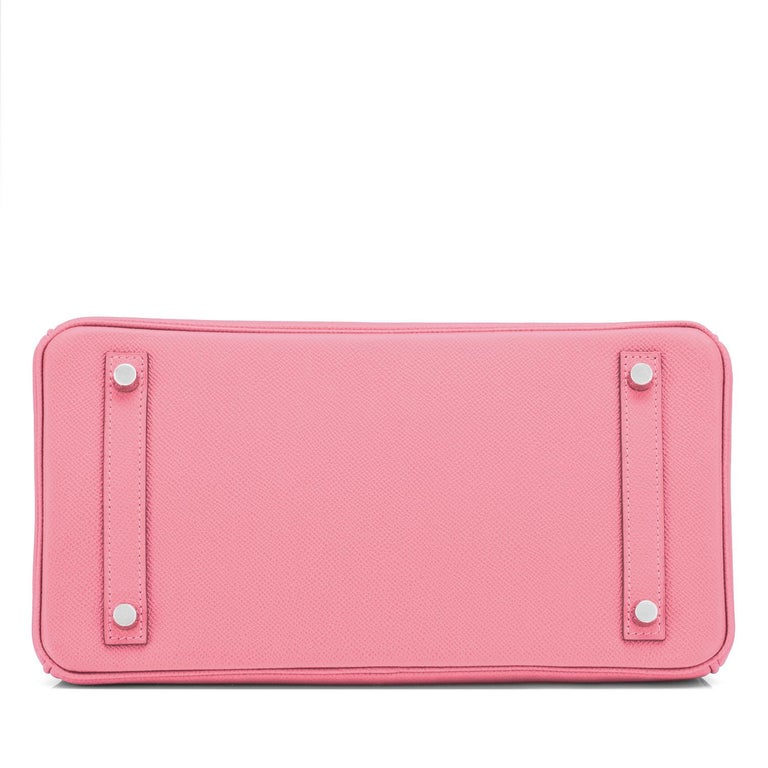 Hermes Birkin 30cm Rose Confetti Pink Epsom Palladium Y Stamp, 2020 For Sale 3