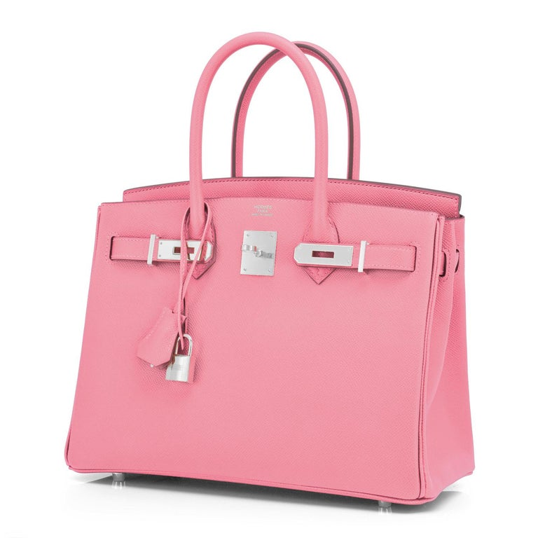 Hermes Birkin 30cm Rose Confetti Pink Epsom Palladium Y Stamp, 2020 For Sale 4