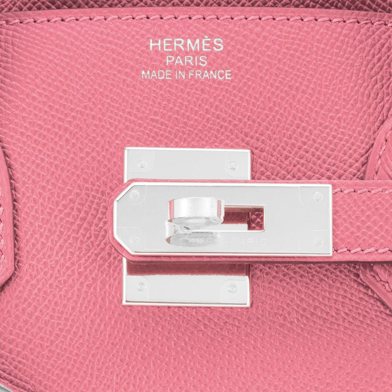 Hermes Birkin 30cm Rose Confetti Pink Epsom Palladium Y Stamp, 2020 For Sale 5