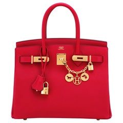 Hermes Birkin 30cm Rouge Casaque Birkin Bag Red Epsom Gold Y Stamp, 2020