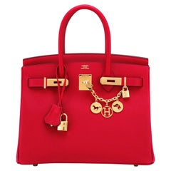 Hermes Birkin 30cm Rouge Casaque Birkin Bag Red Epsom Gold Y Stamp, 2020