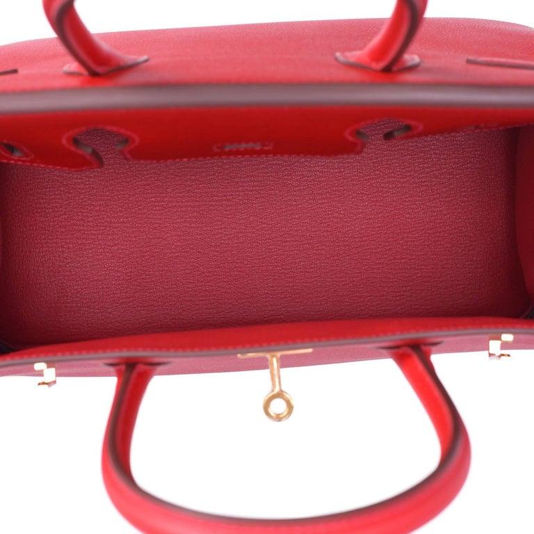 Hermes Birkin 30cm Rouge Casaque Birkin Bag Red Epsom Gold Y Stamp, 2020 For Sale 4