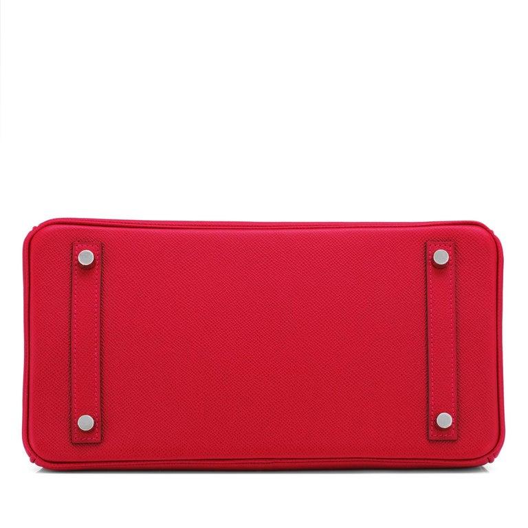 Hermes Birkin 30cm Rouge Casaque Lipstick Red Epsom Palladium Bag Y Stamp, 2020 For Sale 3