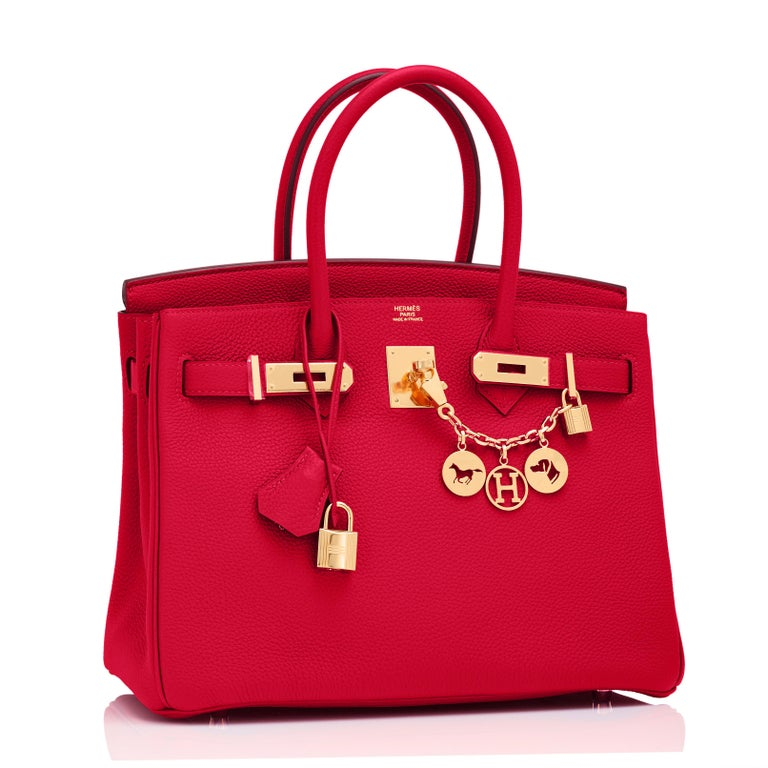Hermes Rouge Casaque 30cm Birkin Lipstick Red Togo Gold Hardware Y Stamp, 2020 Finally, the most perfect and coveted red from the house of Hermes is made in Togo, and we have the only one with gold hardware in market! Just purchased from Hermes