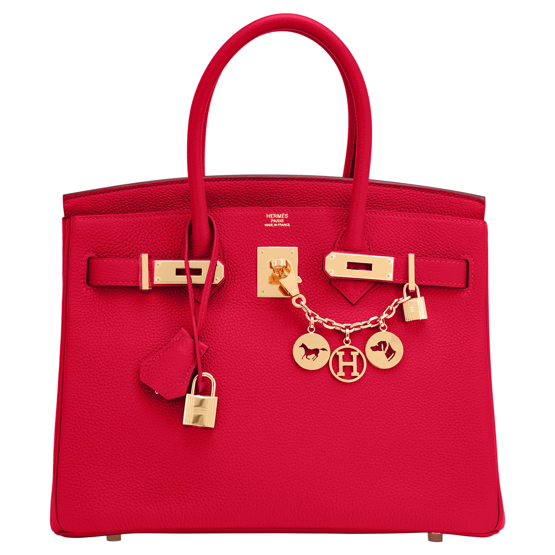 Hermes Birkin 30cm Rouge Casaque Togo Birkin Bag Red Gold Y Stamp, 2020