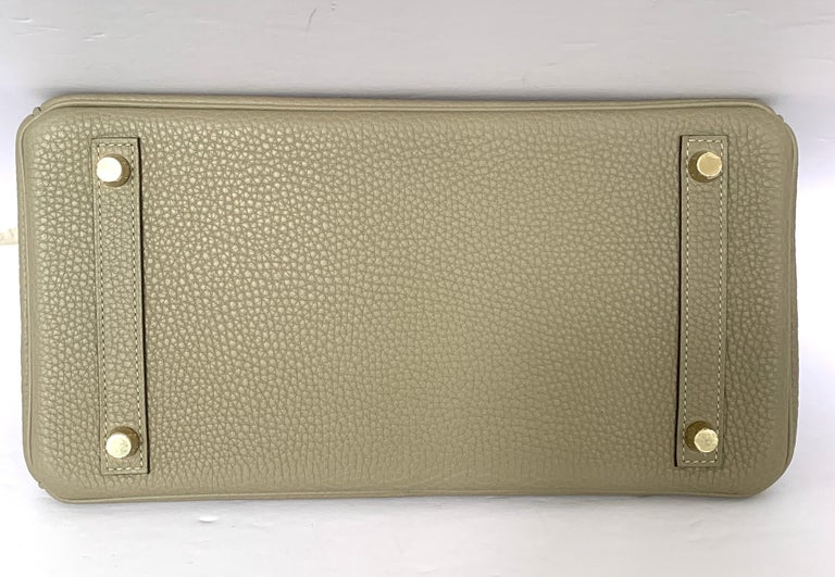 Hermes Birkin 30cm Sage Gold Hardware For Sale 2