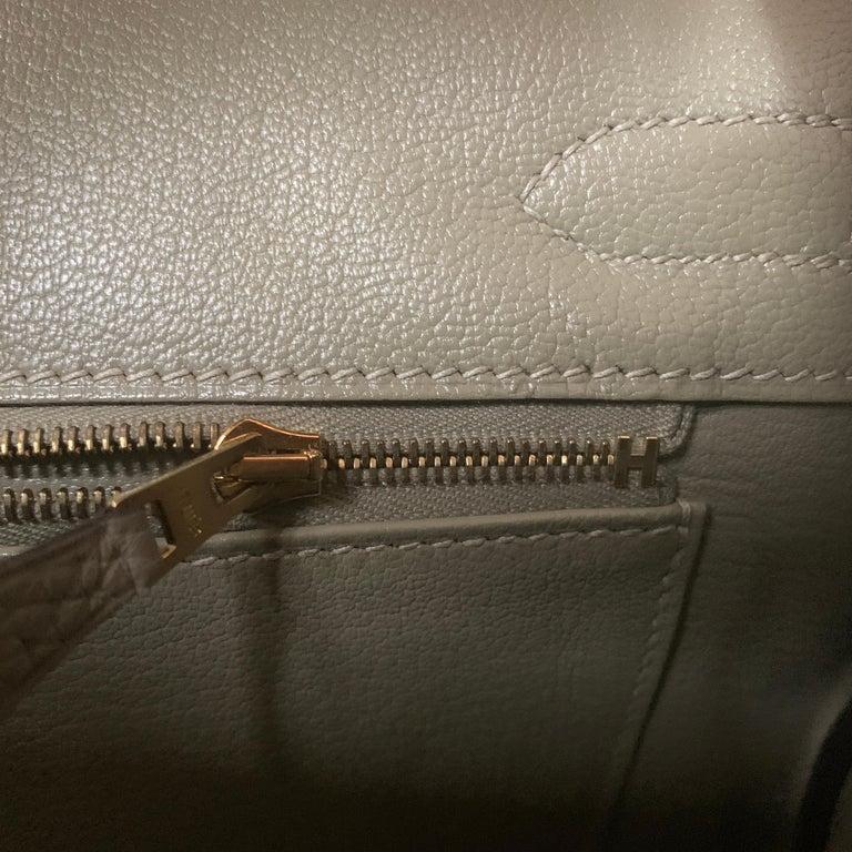 Hermes Birkin 30cm Sage Gold Hardware For Sale 3