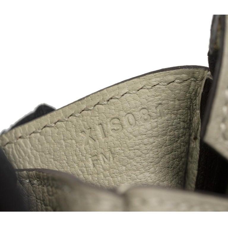 Hermes Birkin 30cm Sauge Clemence Leather Handbag 2016 COMES WITH RECEIPT, DUST  For Sale 5