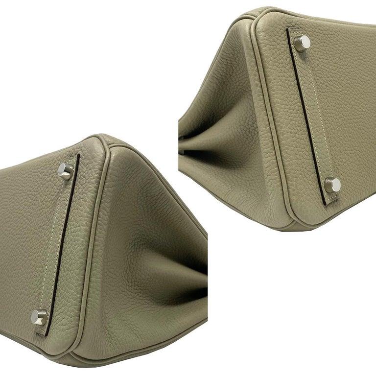 Hermes Birkin 30cm Sauge Clemence Leather Handbag 2016 COMES WITH RECEIPT, DUST  For Sale 1
