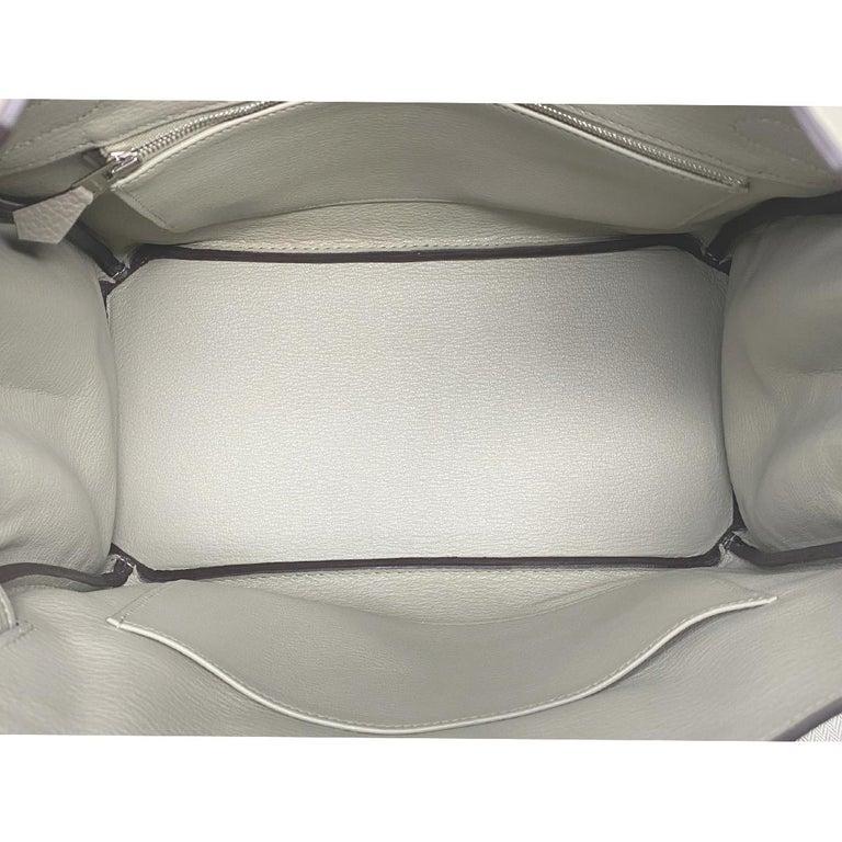 Hermes Birkin 30cm Sauge Clemence Leather Handbag 2016 COMES WITH RECEIPT, DUST  For Sale 2