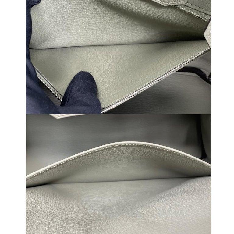 Hermes Birkin 30cm Sauge Clemence Leather Handbag 2016 COMES WITH RECEIPT, DUST  For Sale 3