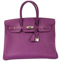 Hermes Birkin 35 Anemone Epsom Bag