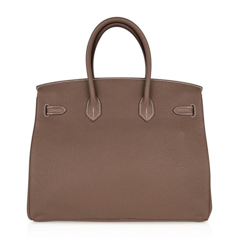 Hermes Birkin 35 Bag Etoupe Gold Hardware Togo Leather Neutral Taupe For Sale 4