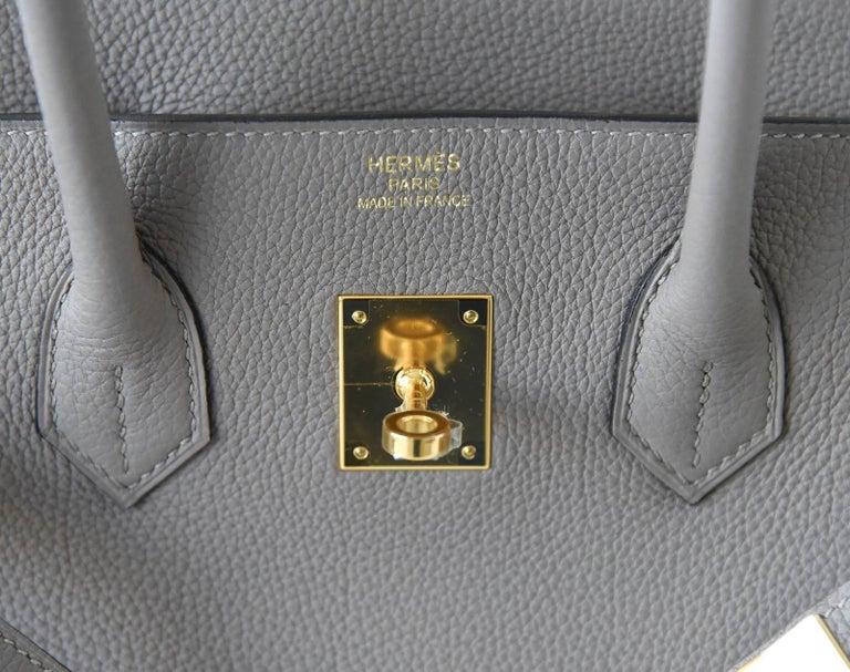 Gray Hermes Birkin 35 Bag Gris Asphalte Togo Gold Hardware For Sale