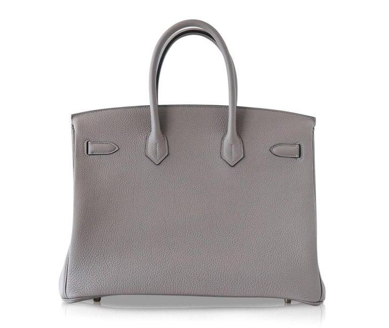 Hermes Birkin 35 Bag Gris Asphalte Togo Gold Hardware For Sale 1