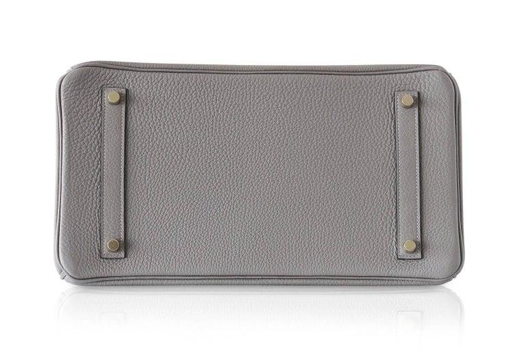 Hermes Birkin 35 Bag Gris Asphalte Togo Gold Hardware For Sale 2