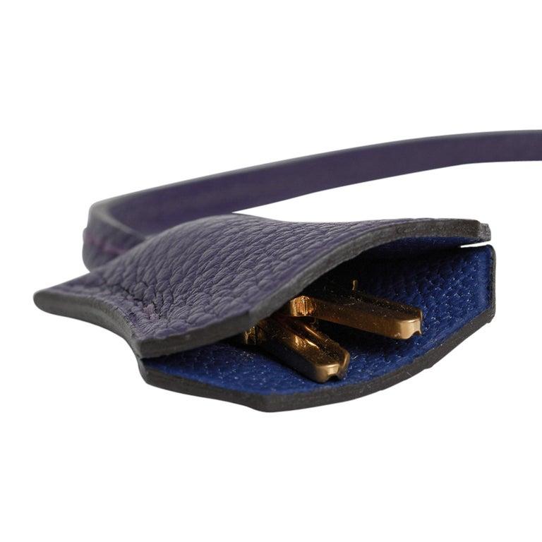 Hermes Birkin 35 Bag HSS Iris / Electric Blue Togo Brushed Gold Hardware New w/B For Sale 8