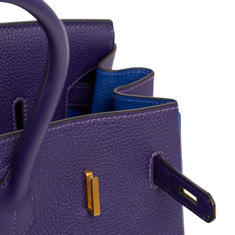 Hermes Birkin 35 Bag HSS Iris / Electric Blue Togo Brushed Gold Hardware New w/B For Sale 1