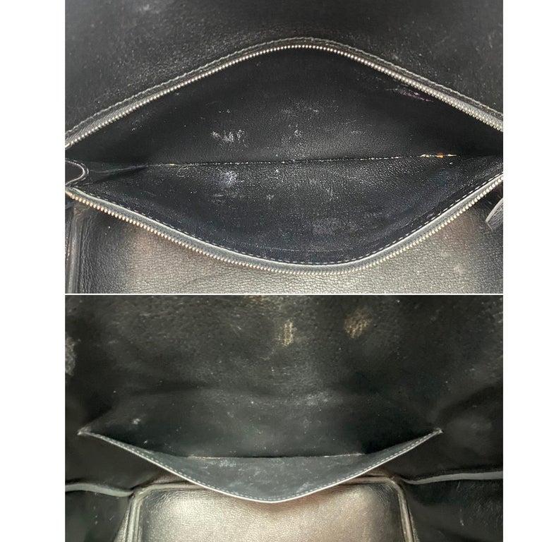 Hermes Birkin 35 Bag Togo Black Leather Palladium Hardware Top Handle Handbag  For Sale 5