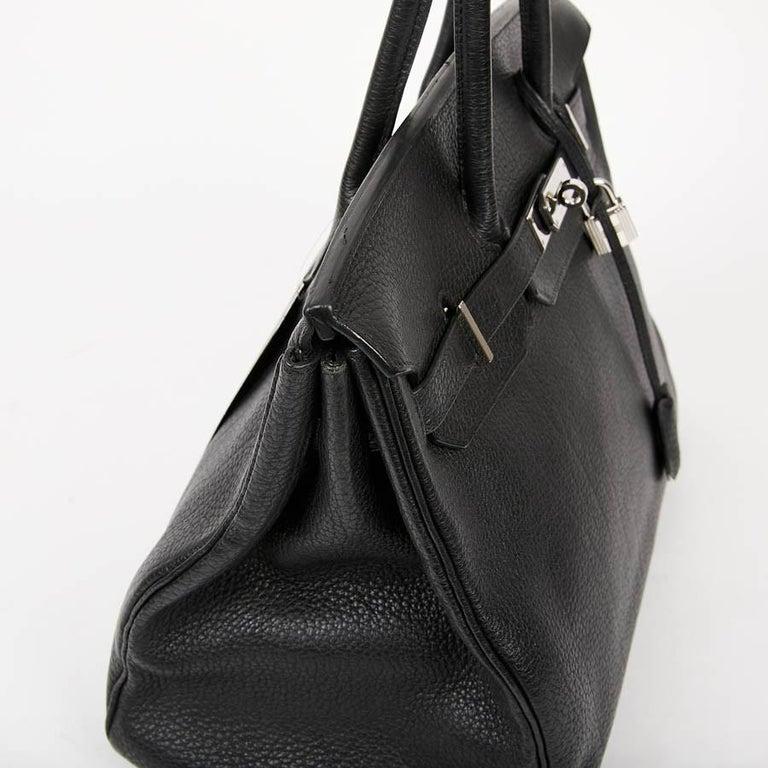 HERMES Birkin 35 Black Togo Leather Bag For Sale 7