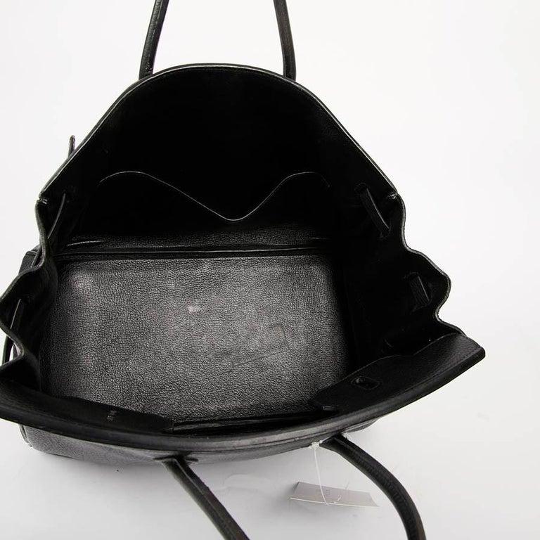 HERMES Birkin 35 Black Togo Leather Bag For Sale 10