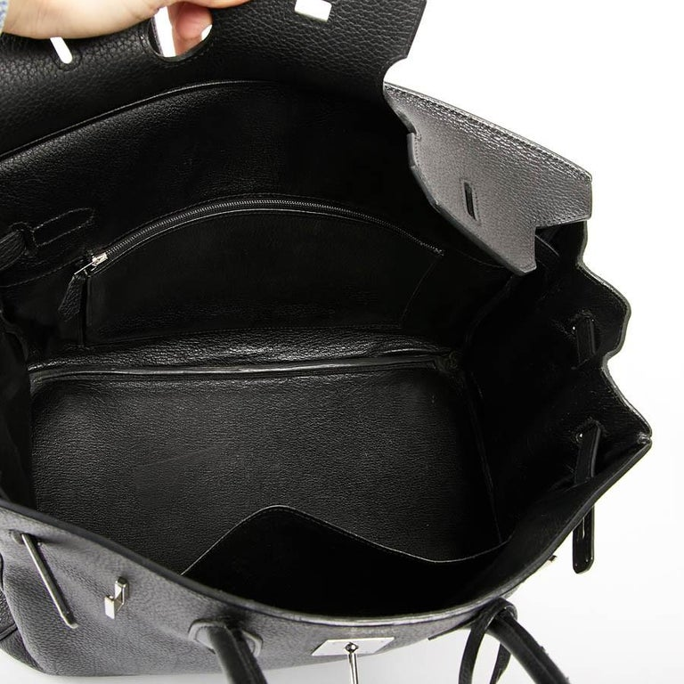 HERMES Birkin 35 Black Togo Leather Bag For Sale 11