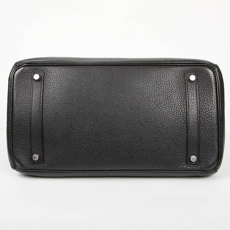 HERMES Birkin 35 Black Togo Leather Bag In Good Condition For Sale In Paris, FR