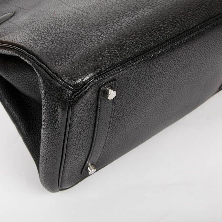 Women's HERMES Birkin 35 Black Togo Leather Bag For Sale